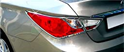 Chrome Rear/Tail Light Lamp Molding Trim Covers 4pcs Set for 2011 2012 2013 Hyundai Sonata