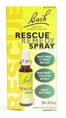 Bach Rescue Remedy Natural Fast Acting Stress Relief Spray FamilyValue 2Pack (20ml)-fur-Bach by Bach