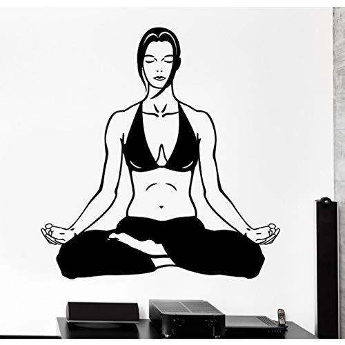 Hwhz 45 X 52 Cm Etiqueta De La Pared Caliente Deporte Yoga ...