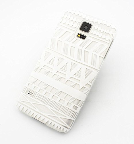 CLEAR PLASTIC CASE COVER for SAMSUNG GALAXY S5 SV i9600 - HENNA ITZLI MAYAN AZTEC tribal native american indian ethnic