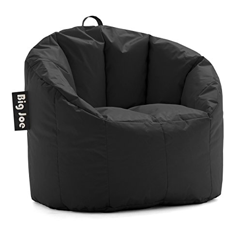 Big Joe Milano Bean Bag Chair, Stretch Limo Black Smartmax