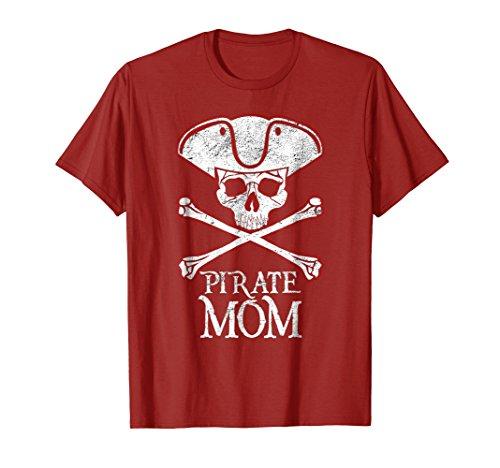 PIRATE MOM Funny Halloween T-Shirt | Skull Captain Shirt