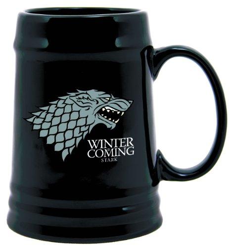 Dark Horse Deluxe Game of Thrones Ceramic Stein: Stark (Licensed Black Steins)