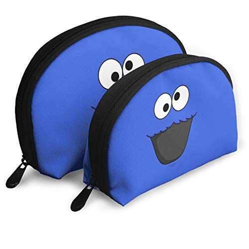 Cookie-Monster Set Of 2 Portable Makeup Bag Cosmetic Pouch Bag Travel Bag For Women Girls ()