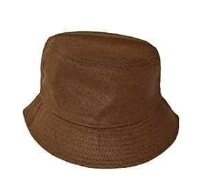 Agradable nuevo estilo mezcla de lana sombrero marrón tamaño único