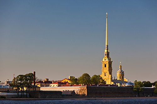 Posterazzi Saints Cathedral Peter and Paul Fortress Neva River St. Petersburg Russia Poster Print (36 x 12) (Peter And Paul Cathedral St Petersburg Russia)