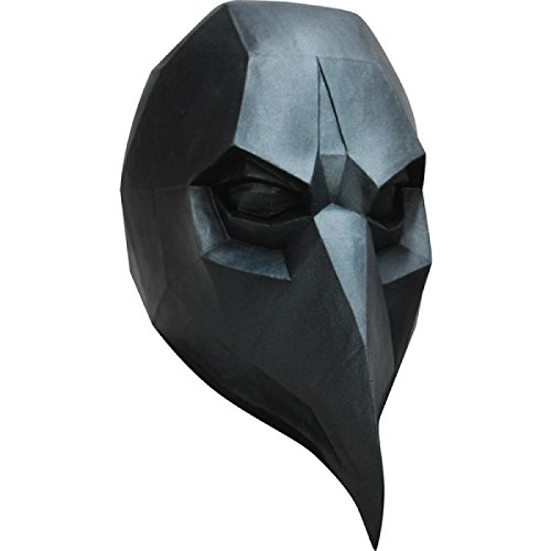 Ghoulish Productions Low-poly Polygon Black Crow Adult Latex