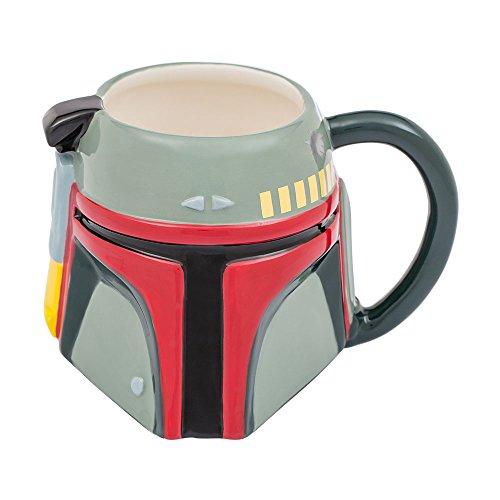 Vandor Star Wars Boba Fett 20 Ounce Ceramic Sculpted Mug - Gifts Boba Fett