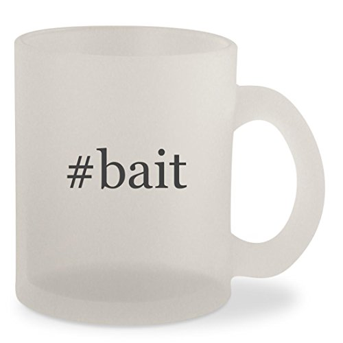#bait - Hashtag Frosted 10oz Glass Coffee Cup (Squirrel Bait Stations)