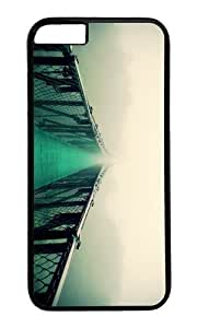 Apple Iphone 6 Case,WENJORS Awesome suspension bridge Hard Case Protective Shell Cell Phone Cover For Apple Iphone 6 (4.7 Inch) - PC Black