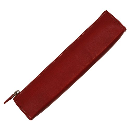 Ashford Leather pen case, real leather, red 8654-044