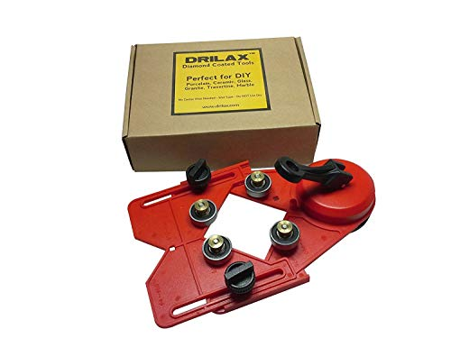 - DRILAX Drill Bit Hole Saw Guide Jig Fixture Vacuum Suction Base with Water Coolant Hole