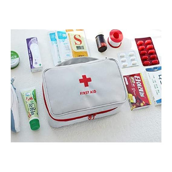 Dhruheer Portable First Aid Emergency Medical Kit Bag (Empty) - Emergency Medicine Storage Pouch Bag for Homer Office