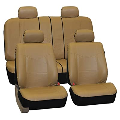 FH GROUP FH-PU005114 Exquisite Leather Car Seat Covers, Airbag compatible and Rear Split