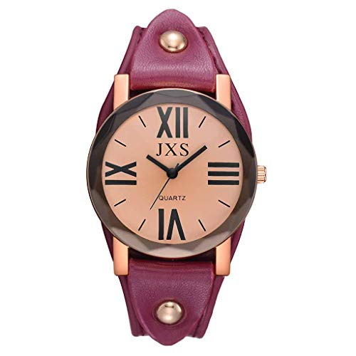 chenqiu Stylish Roman Digital Watch, Ladies Alloy Crystal Rivet Bezel White Strap, Outdoor Simple and Stylish Large dial,