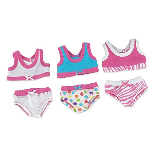 18 Inch Doll Clothes | Trendy and Colorful 6-Piece Underwear Set, Includes 3 Bras and 3 Panties | Fits American Girl Dolls