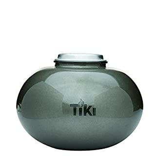 """TIKI Brand 6"""" Clean Burn Glass Pearl of the Sea Table Torch Fire Piece, Pewter (B01N0VIIAS) 