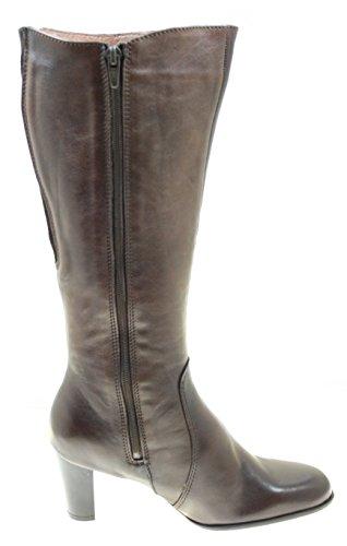 Stiefel Damenschuhe ECHT LEDER Farbe Dunkelbraun mit seitlichem Reißverschluss