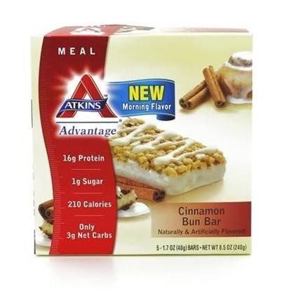Atkins Advantage Cinnamon Bun Bar 5x1.7oz (Pack of 6)
