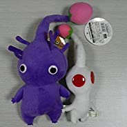 Plush Toys in Hand New Set of 2 Game Plush Pikmin Series Plush Stuffed Animal Purple/White Bud ~20CM 15CM Doll