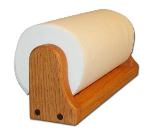 Oak Paper Towel Holder (Mounted) (Wooden Paper Towel Dispenser compare prices)