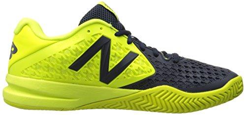 New Balance Mens 996v2 Tennis Shoe, Blue/Yellow, 10 2E US Blue/Yellow