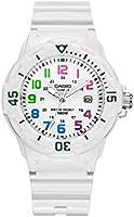 Casio women's white dial resin watch LRW-200H-7B