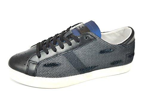 D.a.t.e. Herren Sneaker Schwarz Schwarz