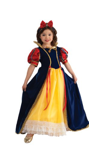 Enchanted Princess Costume, (Snow White Wig Child)