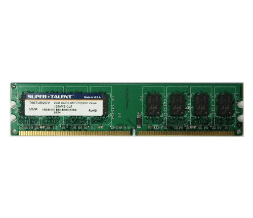 Super Talent DDR2-667 2 GB/128x8 16-Chip Memory T667UB2GV - Bulk -