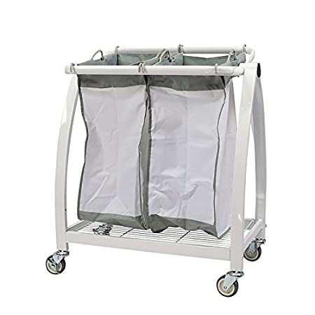 Apollo Hardware Heavy Duty 2-Bag Laundry Sorter,White A-2LS1001W