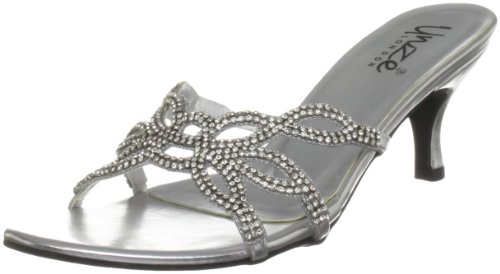 Unze Evening Slippers L18164W - Sandalias para mujer Plateado