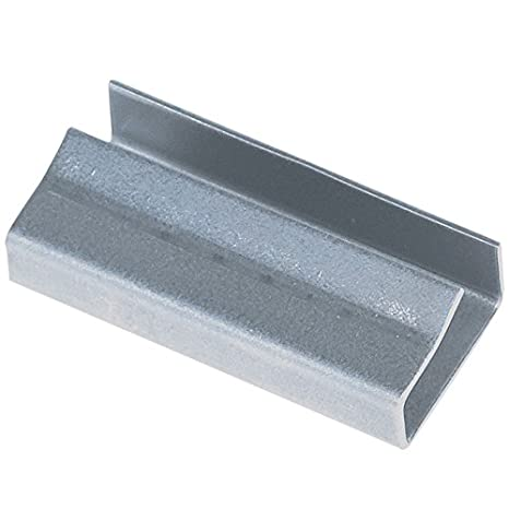 Silver Open//Snap on Regular Duty 5//8 Pack of 5000 BOX USA BSS58OPEN Steel Strapping Seals