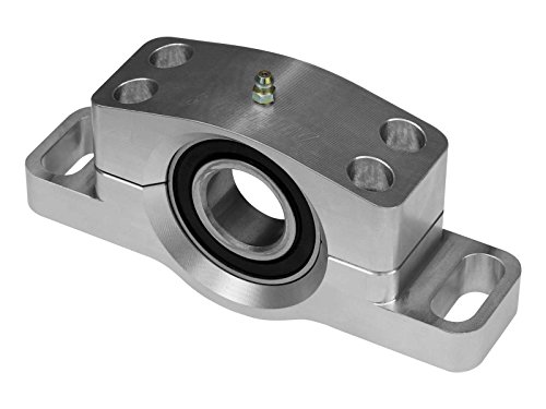 SuperATV Heavy Duty Billet Aluminum Carrier Bearing for Polaris RZR 900/900 S/XP 1000 / S 1000 and More (See Fitment) - Greaseable and Self Aligning!