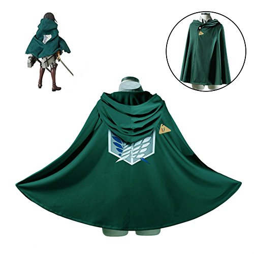 IDS Home Fashion Anime Attack on Titan Cloak Cape Cosplay Costumes Clothes, L]()