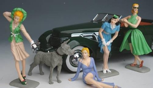 Motorhead Miniatures 18th Scale  Vintage Vixens #2 Set of 4 857