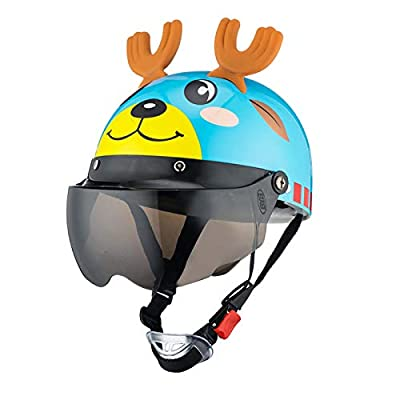 RONSHIN Kids Summer Use Cute Cartoon Helmet Bike Riding Protective Safety Helmet with Goggles for Riding Roller Skating Running White cat Brown Short Lens : Sports & Outdoors