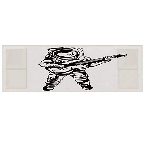 Astronaut Dustproof Electric Oven Cover,Cool Astronaut Jamming with Guitar Sketch Art Music Science Education Print Decorative Cover for Kitchen,36
