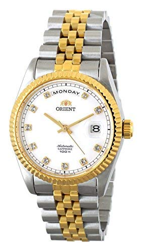 ORIENT 'President' Classic Automatic Sapphire Watch Two Tone Gold EV0J002W