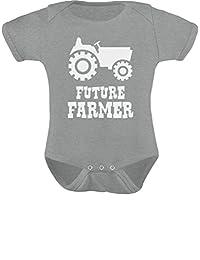 TeeStars - Future Farmer - Cute Baby Grow Vest Farmers Babies Gift Baby Onesie