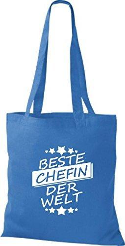 ShirtInStyle Bolso de tela Bolsa de algodón Mejor CHEFIN der Welt Royal