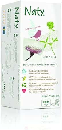 Naty by Nature Womencare Bio Panty Liners Large - 1 x by Naty by Nature Babycare