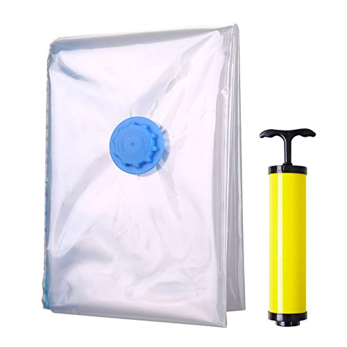 ELWEY Vacuum Storage Bags, 1 PC Jumbo Size Space Bag Beddings & Clothes Improved Hand Pump