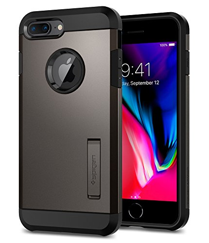 Spigen Tough Armor [2nd Generation] Designed for Apple iPhone 8 Plus Case (2017) / Designed for iPhone 7 Plus Case (2016) - Gunmetal - Iphone Metal Cases