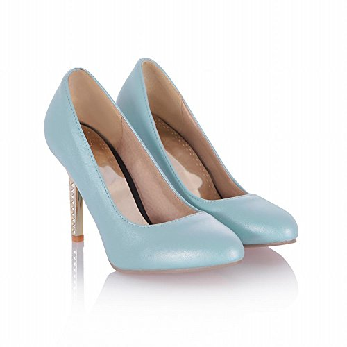 Shoes Elegance Grace Cuff Heel Carol Stiletto Chic Sweet Womens Blue Pumps Bridal Shoes High Dress wAO0t