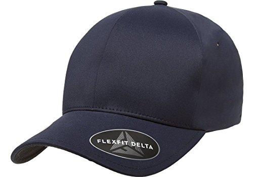 Flexfit Men's Seamless Fitted Flexfit Delta Cap, Dark Navy, Large/Extra Large