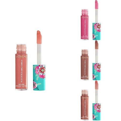 L'Oreal Paris Cosmetics X Camila Cabello Havana Lip Dew, 0.21 Fluid Ounce (Serendipity, Camila, Desnudo, Lit Up) by L'Oreal Paris