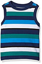 Crazy 8 Little Boys' Baby Green Striped Tank, Multi, 3 Years