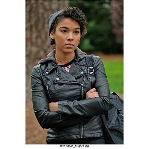 - Alexandra Shipp 8 Inch x 10 Inch Photo X-Men: Apocalypse Love, Simon Straight Outta Compton Wearing Black Leather Arms Crossed Tree in Background kn