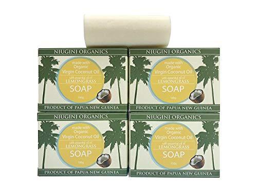 - Organic Coconut Oil Soap Bar (Lemongrass, 3.5 oz x 4-pack)
